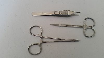 3 Pcs Student Suture Surgical Pack Set German Stainless Steel Ce Veterinary