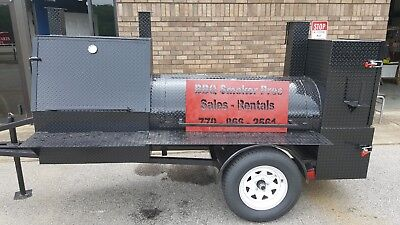 Night Hog Mini Hogzilla Mobile Bbq 36 Grill 4barrel Smoker Trailer Food Truck