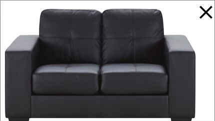2 seater lounge Black