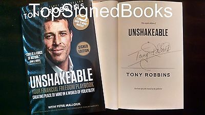 SIGNED Unshakeable Your Financial Freedom Playbook by Tony Robbins new autograph