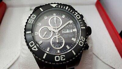 Invicta Reserve 47mm Pro Diver Swiss Valjoux 7750 Black Bracelet MINT