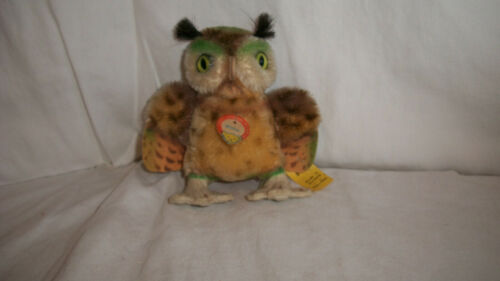 "4"" OLDER STEIFF MINIATURE WITTLE THE OWL  WITH TAG"