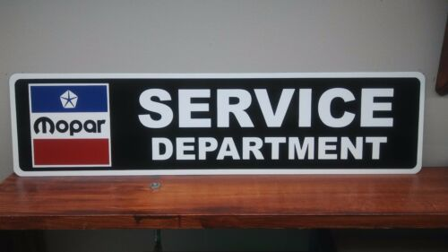"Mopar Service Department Aluminum Sign  6"" x 24"""