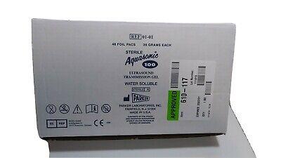 Aquasonic 100 Ultrasound Gel - 20 Gram Sterile Packets - Box Of 48