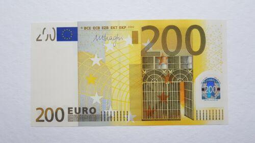 200 EURO 2002, UNC serial no: Z92041166862 Printer T003, Sign. Draghi