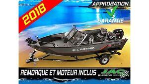 2018 Legend Boats Bateau 18 XTR Mercury 90 Ponton Pêche **Premiu