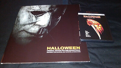 HALLOWEEN 1978 4K ULTRA & Bluray + HALLOWEEN 2018 Limited Ed Vinyl Soundtrack - Halloween Movie Soundtrack 1978