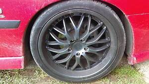 black 19 inch mags and tyres Dean Park Blacktown Area Preview