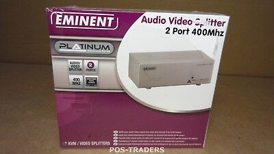 Eminent AB7822 Video Splitter - 2 Port 400Mhz Plus Audio -50HZ 15KHZ  NEW IN BOX