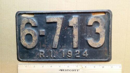 License Plate, Rhode Island, 1924, 6 - 713