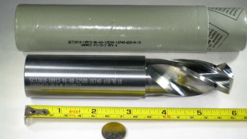 """NEW SOLID CARBIDE 1-3/32"""" DRILL LONG 6"""" LENGTH STEP REAMER DRILLING TOOL BIT"""