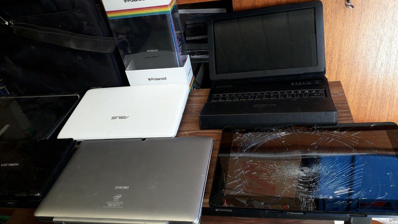 Lot de 5 netbook, 1 tablette asus, et 3 autres tablettes