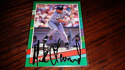 - MARK LEONARD AUTOGRAPHED AUTHENTIC AUTO HAND SIGNED 1991 DONRUSS BASEBALL CARD