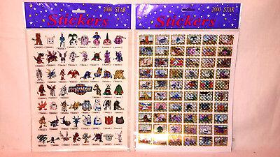 Digimon Stickers 2 Stickerbögen 116 Aufkleber