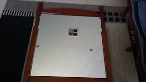 Large solid timber framed mirror in new condition