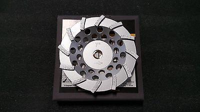 Sase 7 12 Segment Swirly Turbo Non-threaded Arbor Cup Wheel Cupwheel New