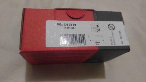 """Hilti X-U 32 P8 , 1 1/4"""" Concrete Nails in Box 100 Pcs."""
