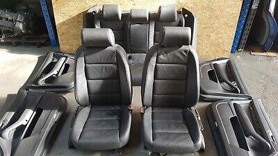 AUDI A6 C6 ESTATE 2.0 3.0 TDI 04-08 COMPLETE LEATHER BLACK SEATS & DOOR CARD SET
