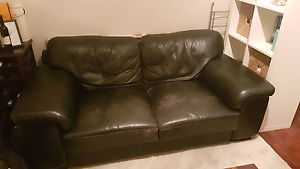 2.5 seater Black leather couch Bondi Beach Eastern Suburbs Preview