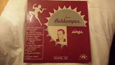 HEINRICH REHKEMPER sings - RARE SCALA RECORDS LP 1960