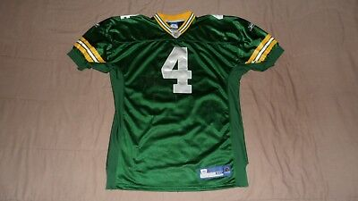 Green Bay Packers Green #4 Favre Authentic PRO Reebok Men's Size 50 NFL Jersey for sale  Laval