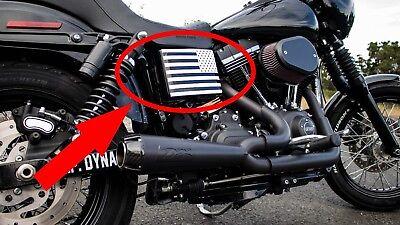 American Battery - American Flag Battery Box Decal Dyna Street Bob