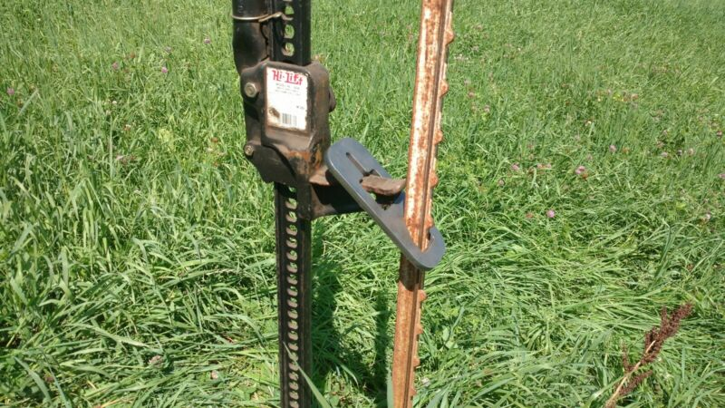 *NEW - HEAVY DUTY STEEL - T POST PULLER - USE WITH JACK OR LOADER - MADE IN USA*