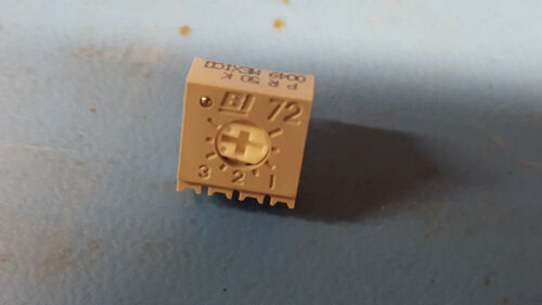 Lot of 76 BOURNS TRIMMER 50K OHM 0.5W PC PIN TOP Part # 3386P-1-503