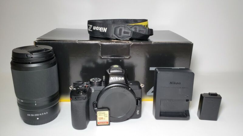 Nikon Z50 With 50-250mm lens and extras!!! Mint condition!
