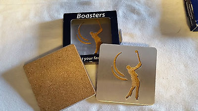 Golfer Stainless Steel Drink Coaster Set 4 NEW Official Licensed