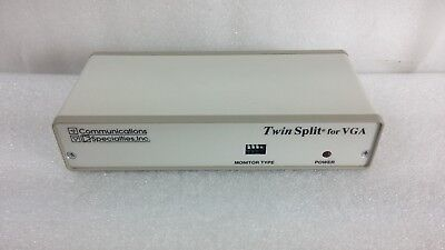 Communications Specialties Model 1302 Twin Split For Vga Monitor