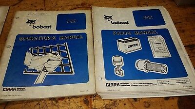 Bobcat 741 Factory Operators Parts Manual Guide Book Printed Paper