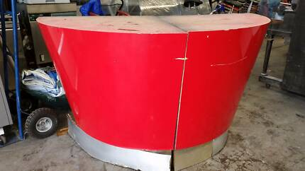Semi circular cool funky retro red laminated counter or bench Northcote Darebin Area Preview