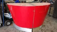 Semi circular cool funky retro red laminated counter or bench Northcote Darebin Area Preview