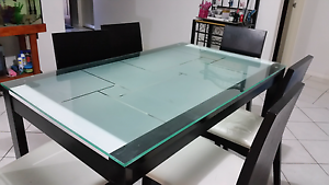 glass dining suite Kenwick Gosnells Area Preview