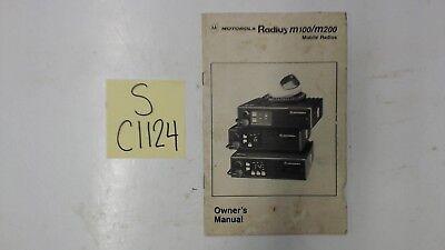Motorola Radius M100 / M200 Mobile Radios Owners Manual. Buy it now for 9.95