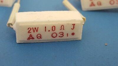 Power Resistor Ceramic Cement 2w 1 Ohm 2w 1 1r 5 20 Pcs