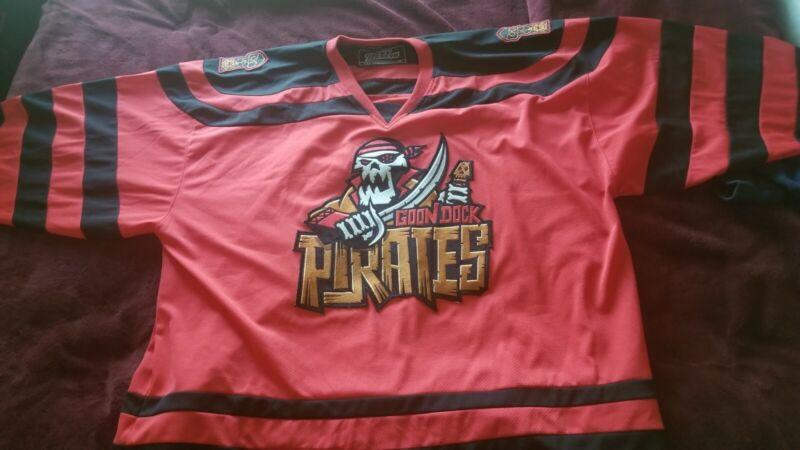 "Geeky Jersey ""Goon Dock Pirates"" Hockey Jersey Sz 5xl"