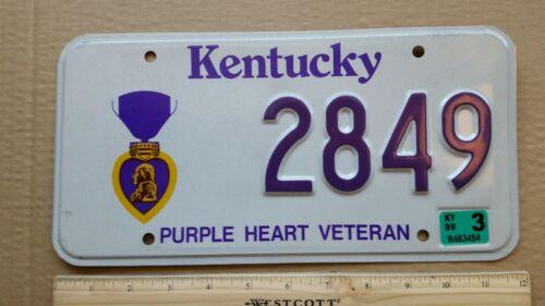 License Plate, Kentucky, Purple Heart, 2849