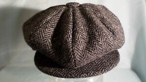 8-piece-cap-100-wool-Harris-tweed-newsboy-baker-boy-AKA-gatsby-cabbie-8-panel