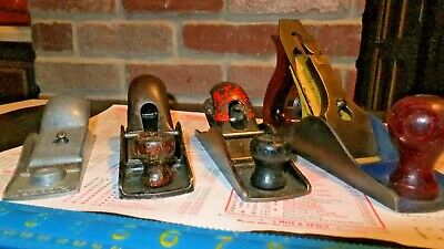 Antique Wood Plane Lot 4 Hudson Mohawk Gilbert Etc.