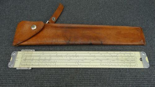 (B20) Pickett 800T Slide Rule w/ Leather Holster Case