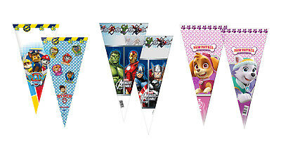 hane Cone Party Favor Bags - Peppa Pig, PJ Mask, Avengers... (Birthday Party Favor)