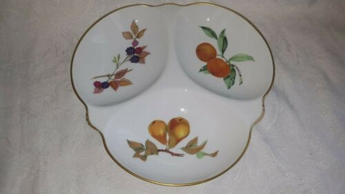NEW+Royal+Worcester+-+Evesham+Gold+Fruit+Triple+Dish+-+Boxed+-+Oven+to+Table