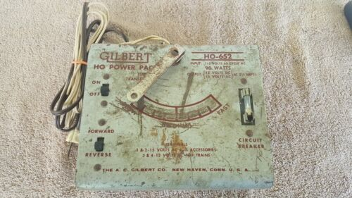 Gilbert HO 652 Power Pack Toy Transformer Parts Or Repair - $9.99