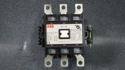 ABB EH 145 CONTACTOR 200 AMP 600 V 3 POLE WITH 24 VDC COIL MODEL: EH145