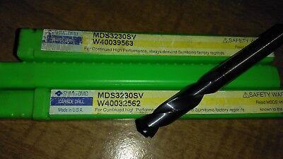 Sumitomo .3230 Carbide Cnc Drill Bit Mds3230sv W40039563 Screw Machine Length