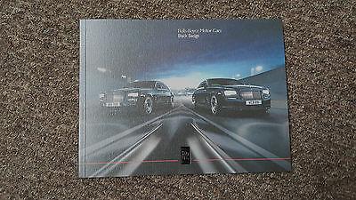 Rolls Royce Black Badge 2016 Brochure inc Wraith & Ghost 2 was £16.99 NOW £12.99