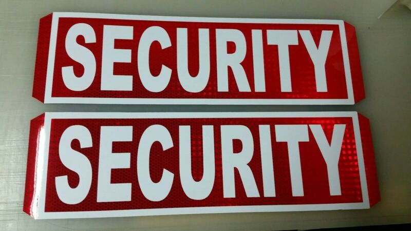 security magnetic door signs reflective red