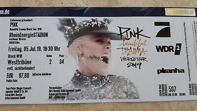 Ticket Pink Köln, Rhein-Energiestadion, 5.7.2019, Freitag, Westtribüne, Reihe 2,